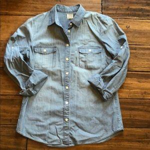 J crew jean blouse